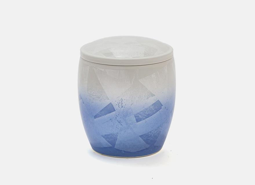 <九谷焼>釉裏銀彩 ブルー