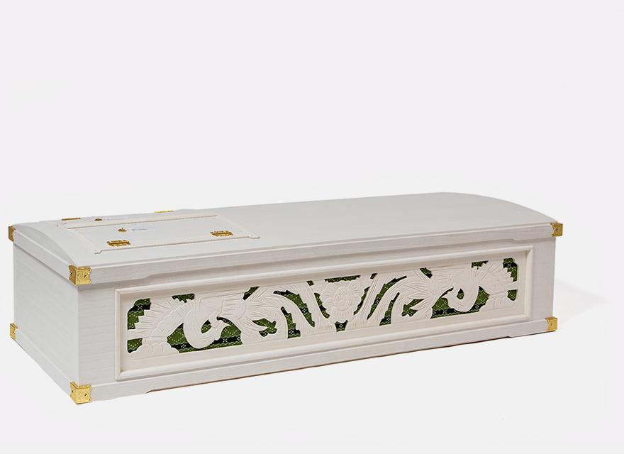 桐二面彫刻印籠棺 ニライ